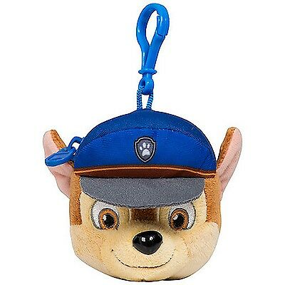 Paw Patrol Chase Money Coin Purse Wallet Head with Keyring Cartoon Character