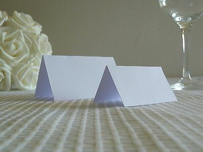 10-200 White Place Cards Blank For Wedding Parties