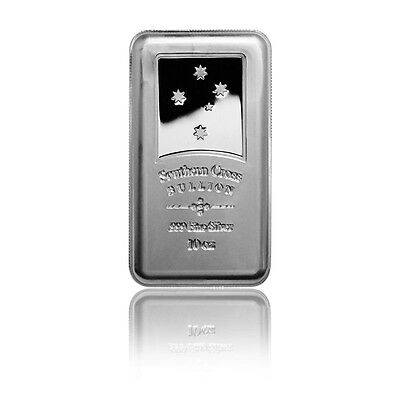 Lingot Argent 999/1000 10 Once Southern Cross Secutiry - 10 Oz silver bar