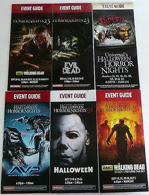 Hhn Universal Studio Halloween Horror Night 6 Event Guides 2009 2013 2014  New