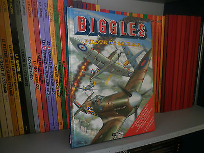 BIGGLES, Tome 17 : Pilote de la R.A.F - Aventure/Aviation - BD COMME NEUF