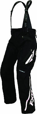 FXR Mens Black/White Mission X Insulated Snowmobile Pants Snow Snocross