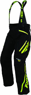 FXR Mens Black/Lime Mission X Insulated Snowmobile Pants Snocross
