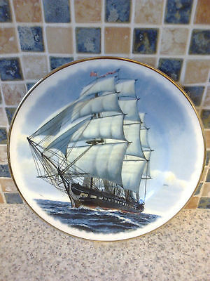 Fenton China Collectors Plate Uss Constitution