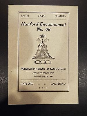 Independent Order of Odd Fellows By-Laws of Hanford Encampment No. 68 1900