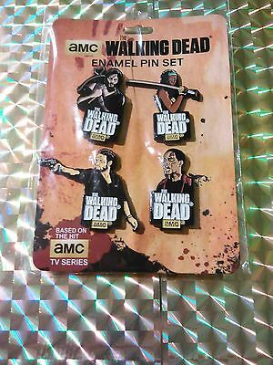 The Walking Dead Enamel Pin Set Series 1 (Set of 4 pins) New, factory sealed!