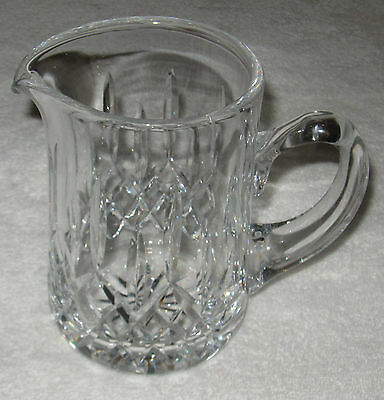 """Antique/Vintage Crystal Glass Waterford Pitcher - 6 1/2 Height x 3 1/2"""" Diameter"""