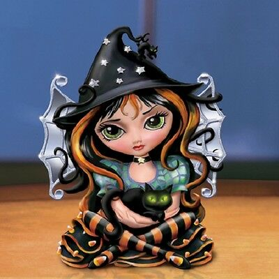 Don't Be a Scaredy Cat Jasmine Becket Griffith Bewitching Tales Fairy Figurine