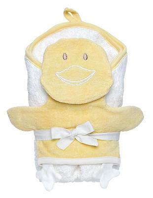 Under the Nile Organic Egyptian Cotton Hooded Towel & Wash Mitt Set: Duck - HTF
