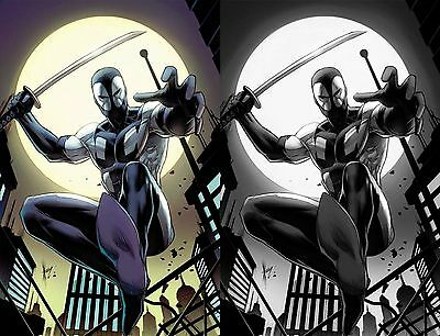 Deadpool Back in Black #1 Dale Keown Comic Mint B&W Color Variant Set