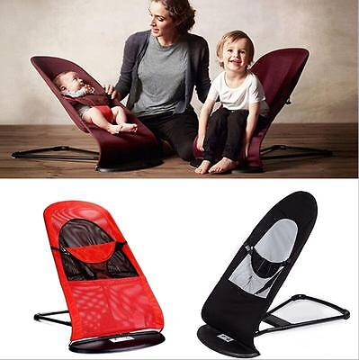 Red Black Baby Baby Balance Soft Bouncer Rocker Bouncer Chair Mesh/Cotton