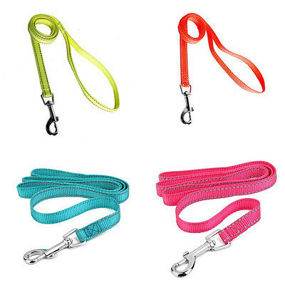 4 Color Reflective Pet Dog Nylon Traction Rope Training Leash Walking Lead Strap