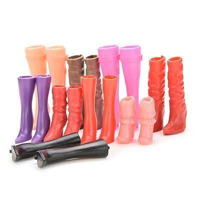 Various Pairs High Heels Boots Shoes for Barbie Doll Designs