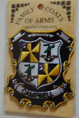 CAMPBELL Embroidered PATCH Coat of Arms Family Crest - Sew or Iron On