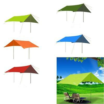 Outdoor Camping Beach Tent Poles Canopy Tarp Awning Rain Cover Shelter Sun Shade
