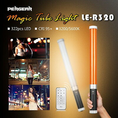 Pergear LE-R320 Handheld 322pcs LED fill Tube light LED bulbs CRI 95+