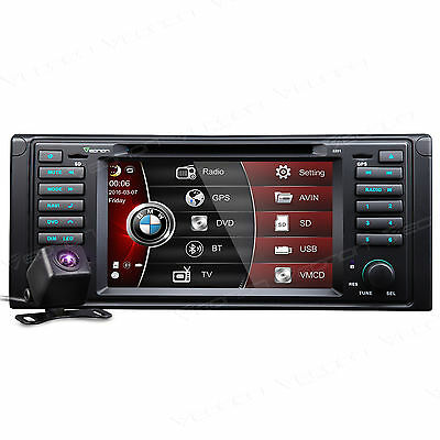 """US Camera+ In Dash Car DVD GPS Player Stereo for BMW 5 Series E39 7"""" Bluetooth A"""