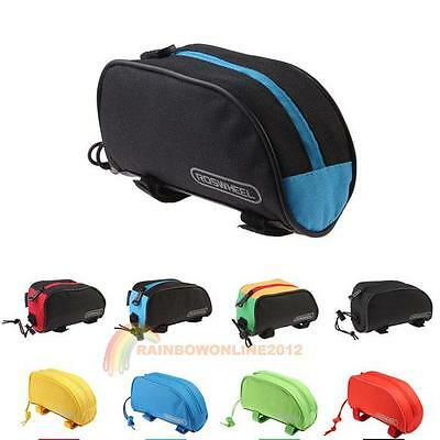 1L Bicycle Cycling Bike Frame Front Top Tube Bag Outdoor Phone Pouch Panniers