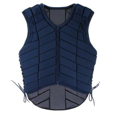 Horse Riding Vest Equestrian Body Protector Safety Breathable Navy Youth Adult