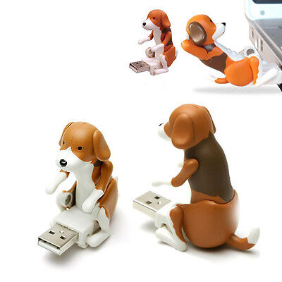 Brand New Funny Cute pet USB Humping Spot Dog Toy Christmas Gift Gray Lovely