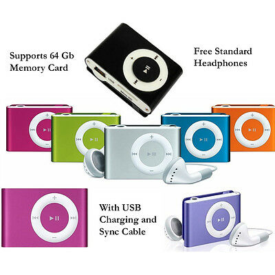mini MP3 Player Music Media Player USB 2.0 supports 64GB memory card rechargable