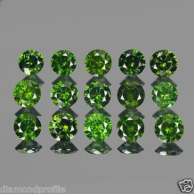 6.40 Cts 72 Pcs SPARKLING TOP QUALITY GREEN COLOR NATURAL LOOSE DIAMONDS- SI1