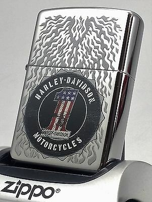 high polished harley davidson zippo neu ovp ace of spades. Black Bedroom Furniture Sets. Home Design Ideas