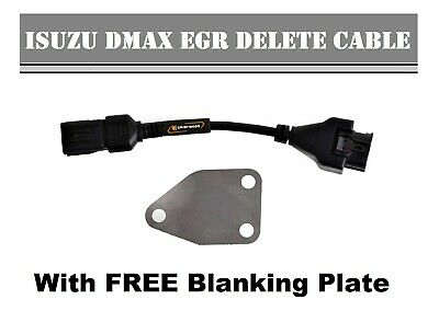 Isuzu Dmax EGR DELETE CABLE 2012 2013 2014 2015 3.0L engine FREE Blanking Plate