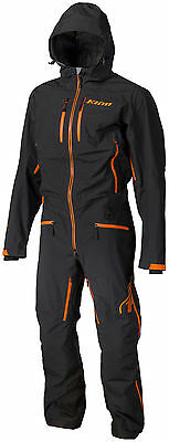 Klim Mens Black/Orange Lochsa Non-Insulated Snowmobile One-Piece Suit Snowcross