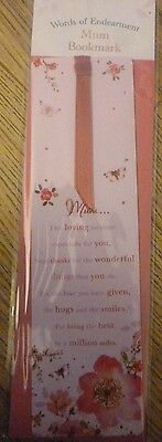 Mum Bookmark*words Of Endearment*ideal Birthday*gift*new