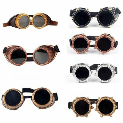 Welding Cyber Goggles Steampunk Cosplay Goth Antique Victorian Seven Lens us lwj