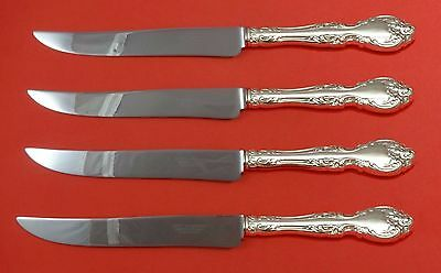 Melrose by Gorham Sterling Silver Steak Knife Set 4pc Large Texas Sized Custom