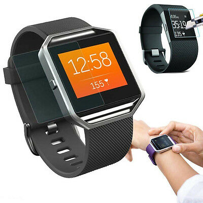 Premium Tempered Glass Film Screen Protector Guard For Fitbit Blaze Smart Watch