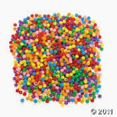 PONY BEADS (pack of 100)  MIXED & PLAIN COLOUR PACKS