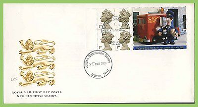 G.B. 2000 Postman Pat booklet stamps Royal Mail First Day Cover, London Distribu
