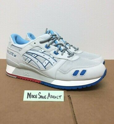 premium selection 84098 791a6 ASICS GEL LYTE III 3 Soft Grey H637Y-1010 Light Blue Red Future Pack Suede  Men