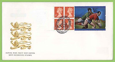 G.B. 1999 Rugby booklet stamps Royal Mail First Day Cover, Cardiff Oval