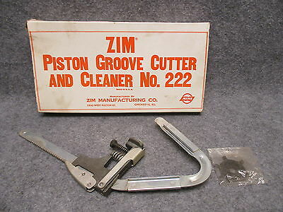 NOS Zim Piston Groove Cutter & Cleaner No. 222 New Old Stock