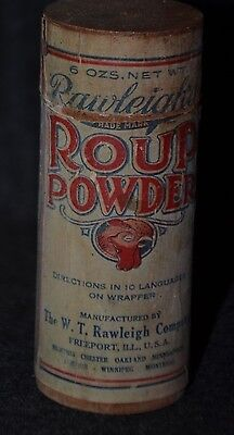 Vintage Collectible Rawleigh's Roup Powder Veterinary Poultry Medicine (AB159)