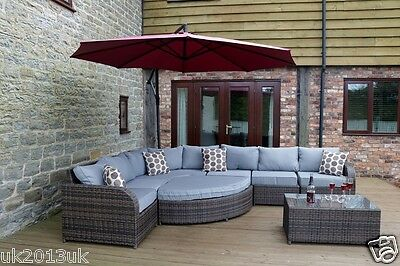 Rattan Garden Furniture Set Sofa Modular Patio Conservatory Outdoor Daybed New