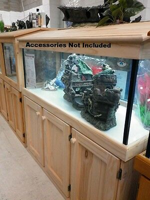 "4'x18""x18"" Glass Aquarium Fish Tank Cabinet Hood"