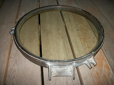 Vintage Bronze Porthole Window 17 3/4 Inch Glass Maritime Ship Navy