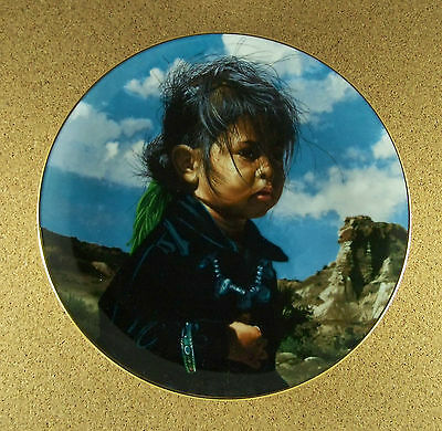 The Proud Nation NAVAJO LITTLE ONE Native American Indian Plate Ray Swanson COA
