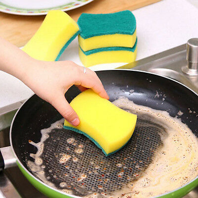 Lot 5pcs Magic Sponge Brush Kitchen Home Washing Cleaning Cleaner Scouring Tool