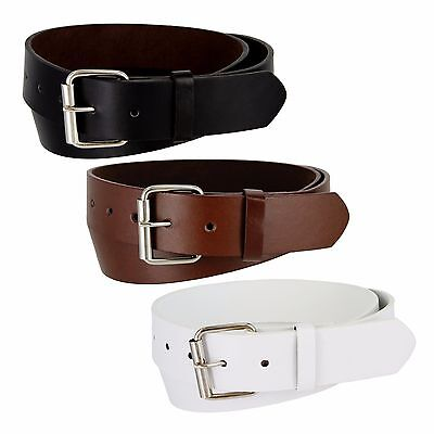 Genuine Leather Belt Golf Baseball Softball New Mens Womens Black Brown White