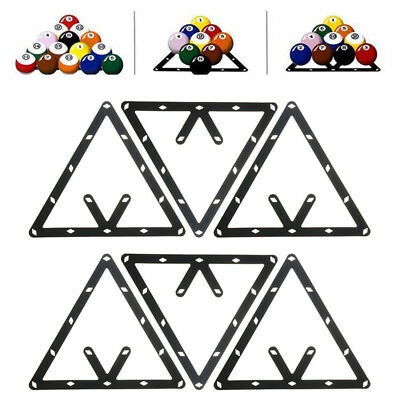 6pc 8 9 and 10 Ball Magic Rack Positioning Billiard Pool Cue Accessory Black New
