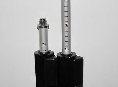 """NEW 2PCS/lot  2.15m length prism pole for total stations, with 5/8""""x11 thread"""