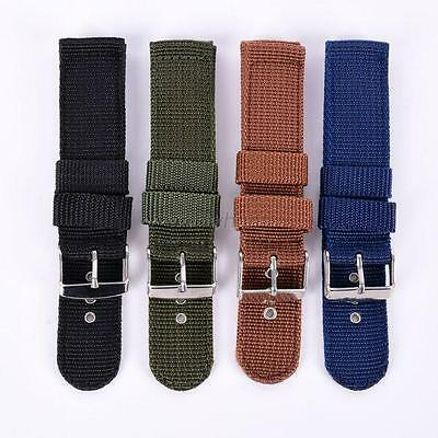 Chic New Fabric Military Army Nylon Canva Wrist Watch Band Strap 18/20/22/24mm