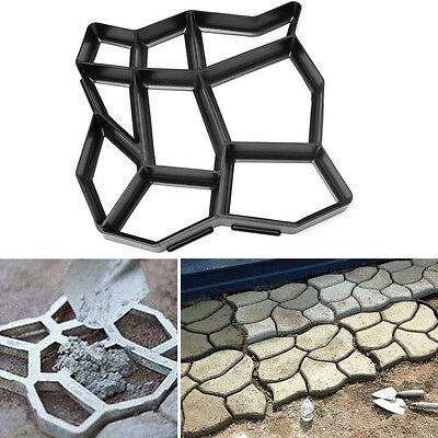 Useful DIY Driveway Pavement Mold Patio Concrete Brick Stone Path Maker Mold SH