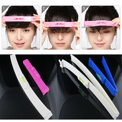 DIY 1 Set Professional Bangs Hair Cutting Clip Hairstyle Trim Ruler Tool Nice UK